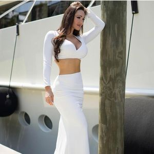 White two piece outfit top and bottom
